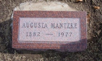 MANTZKE, AUGUSTA - Stevens County, Kansas | AUGUSTA MANTZKE - Kansas Gravestone Photos