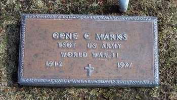 MARKS, GENE C  (VETERAN WWII) - Stevens County, Kansas | GENE C  (VETERAN WWII) MARKS - Kansas Gravestone Photos