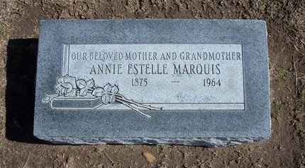 MARQUIS, ANNIE ESTELLE - Stevens County, Kansas   ANNIE ESTELLE MARQUIS - Kansas Gravestone Photos