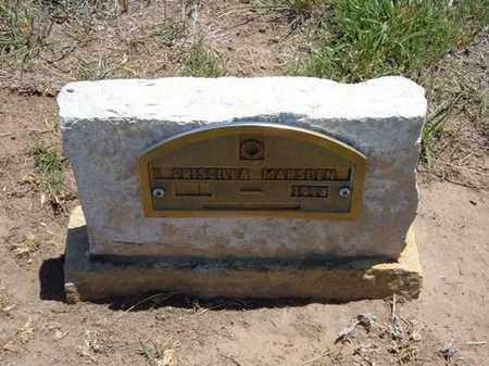 MARSDEN, PRISCILLA - Stevens County, Kansas | PRISCILLA MARSDEN - Kansas Gravestone Photos