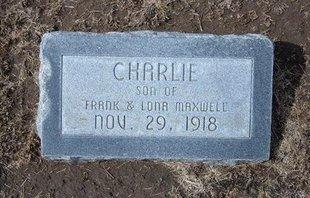 MAXWELL, CHARLIE - Stevens County, Kansas   CHARLIE MAXWELL - Kansas Gravestone Photos