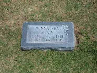 MAY, WINNA BEA - Stevens County, Kansas | WINNA BEA MAY - Kansas Gravestone Photos