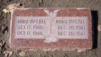MCCALL, BABY - Stevens County, Kansas   BABY MCCALL - Kansas Gravestone Photos