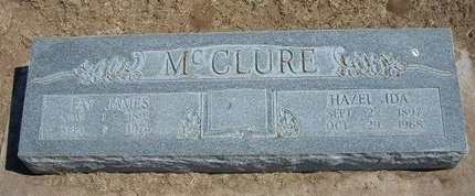 MCCLURE, FAY JAMES - Stevens County, Kansas | FAY JAMES MCCLURE - Kansas Gravestone Photos