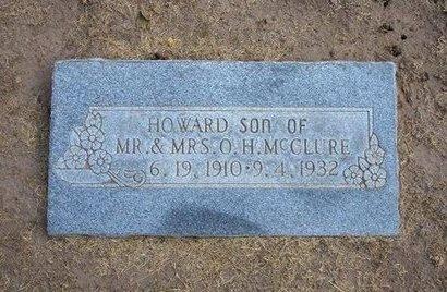 MCCLURE, HOWARD - Stevens County, Kansas | HOWARD MCCLURE - Kansas Gravestone Photos