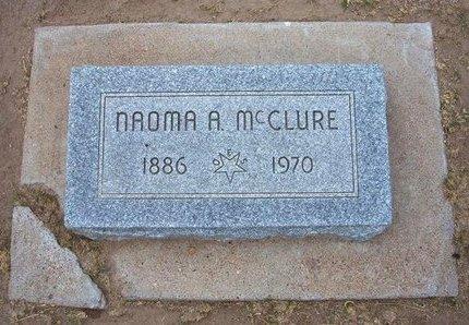 MCCLURE, NAOMA A - Stevens County, Kansas | NAOMA A MCCLURE - Kansas Gravestone Photos