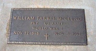 MCCLURE, WILLIAM FARRIS (VETERAN WWI) - Stevens County, Kansas | WILLIAM FARRIS (VETERAN WWI) MCCLURE - Kansas Gravestone Photos
