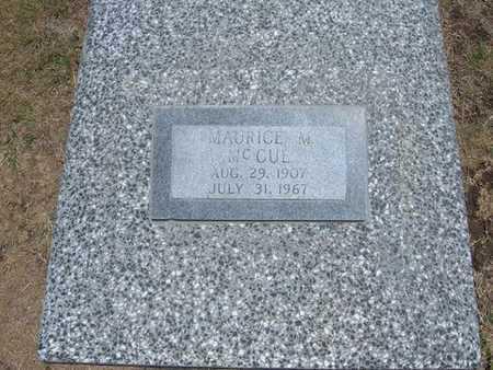 MCCUE, MAURICE M - Stevens County, Kansas | MAURICE M MCCUE - Kansas Gravestone Photos