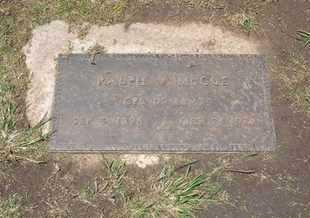 MCCUE, RALPH V  (VETERAN) - Stevens County, Kansas | RALPH V  (VETERAN) MCCUE - Kansas Gravestone Photos