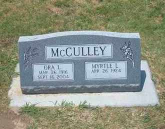 MCCULLEY, ORA L - Stevens County, Kansas | ORA L MCCULLEY - Kansas Gravestone Photos