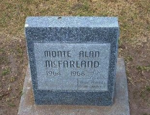 MCFARLAND, MONTE ALAN - Stevens County, Kansas | MONTE ALAN MCFARLAND - Kansas Gravestone Photos