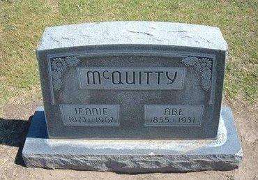 "MCQUITTY, VIRGINIA ""JENNIE"" - Stevens County, Kansas | VIRGINIA ""JENNIE"" MCQUITTY - Kansas Gravestone Photos"