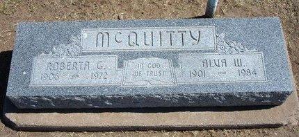 MCQUITTY, ROBERTA G - Stevens County, Kansas | ROBERTA G MCQUITTY - Kansas Gravestone Photos
