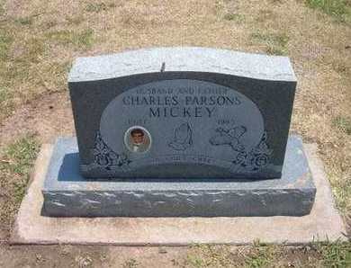 MICKEY, CHARLES PARSONS - Stevens County, Kansas | CHARLES PARSONS MICKEY - Kansas Gravestone Photos