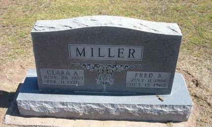 MILLER, FRED R - Stevens County, Kansas | FRED R MILLER - Kansas Gravestone Photos