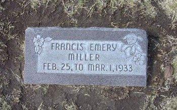 MILLER, FRANCIS EMERY - Stevens County, Kansas   FRANCIS EMERY MILLER - Kansas Gravestone Photos
