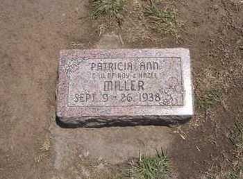 MILLER, PATRICIA ANN - Stevens County, Kansas | PATRICIA ANN MILLER - Kansas Gravestone Photos