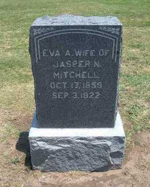 MITCHELL, EVA A - Stevens County, Kansas   EVA A MITCHELL - Kansas Gravestone Photos