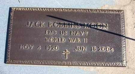 MOON, JACK ROBBINS  (VETERAN WWII) - Stevens County, Kansas   JACK ROBBINS  (VETERAN WWII) MOON - Kansas Gravestone Photos