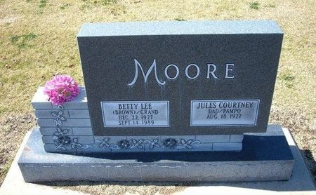 MOORE, BETTY LEE - Stevens County, Kansas   BETTY LEE MOORE - Kansas Gravestone Photos