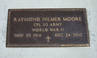 MOORE, RAYMOND HILMER (VETERAN WWII) - Stevens County, Kansas   RAYMOND HILMER (VETERAN WWII) MOORE - Kansas Gravestone Photos