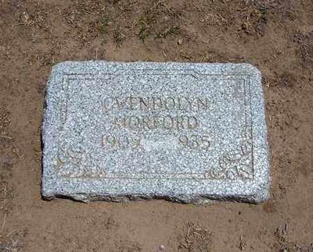 MORFORD, GWENDOLYN - Stevens County, Kansas | GWENDOLYN MORFORD - Kansas Gravestone Photos