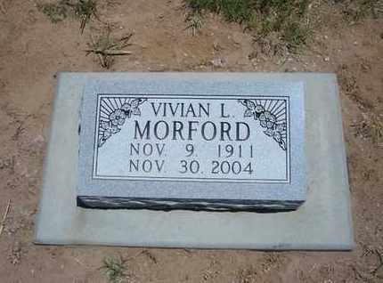 MORFORD, VIVIAN L - Stevens County, Kansas | VIVIAN L MORFORD - Kansas Gravestone Photos