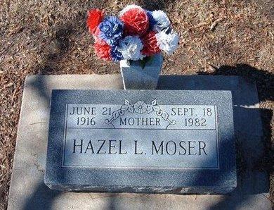 MOSER, HAZEL L - Stevens County, Kansas | HAZEL L MOSER - Kansas Gravestone Photos