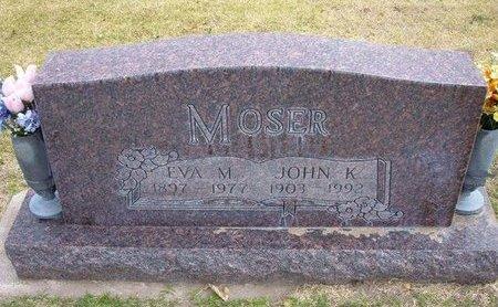 MOSER, EVA MARTHA - Stevens County, Kansas | EVA MARTHA MOSER - Kansas Gravestone Photos