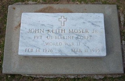 MOSER, JOHN KEITH, JR   (VETERAN WWII) - Stevens County, Kansas | JOHN KEITH, JR   (VETERAN WWII) MOSER - Kansas Gravestone Photos