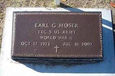 MOSER, EARL G   (VETERAN WWII) - Stevens County, Kansas | EARL G   (VETERAN WWII) MOSER - Kansas Gravestone Photos
