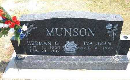 MUNSON, HERMAN G - Stevens County, Kansas | HERMAN G MUNSON - Kansas Gravestone Photos