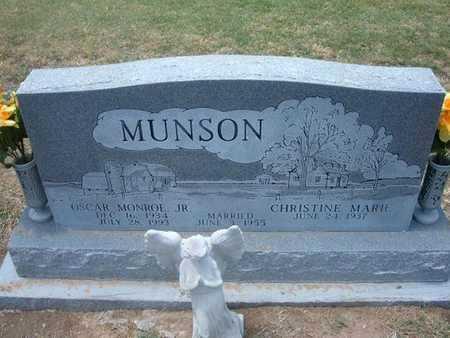 MUNSON, OSCAR MONROE, JR - Stevens County, Kansas | OSCAR MONROE, JR MUNSON - Kansas Gravestone Photos
