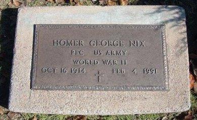 NIX, HOMER GEORGE  (VETERAN WWII) - Stevens County, Kansas | HOMER GEORGE  (VETERAN WWII) NIX - Kansas Gravestone Photos