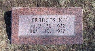 NORDYKE, FRANCES KATHERINE - Stevens County, Kansas   FRANCES KATHERINE NORDYKE - Kansas Gravestone Photos