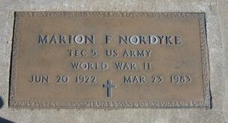 NORDYKE, MARION FRANCIS (VETERAN WWII) - Stevens County, Kansas   MARION FRANCIS (VETERAN WWII) NORDYKE - Kansas Gravestone Photos