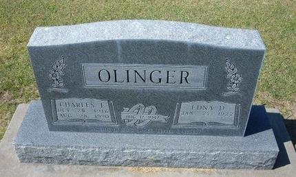 OLINGER, CHARLES F - Stevens County, Kansas | CHARLES F OLINGER - Kansas Gravestone Photos
