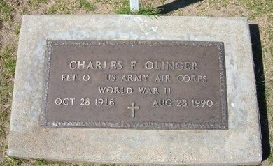 OLINGER, CHARLES F (VETERAN WWII) - Stevens County, Kansas | CHARLES F (VETERAN WWII) OLINGER - Kansas Gravestone Photos