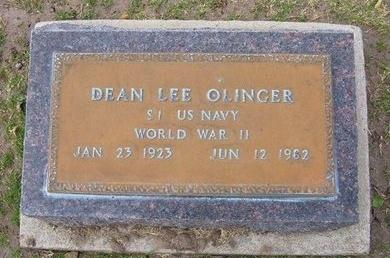 OLINGER, DEAN LEE   (VETERAN WWII) - Stevens County, Kansas | DEAN LEE   (VETERAN WWII) OLINGER - Kansas Gravestone Photos