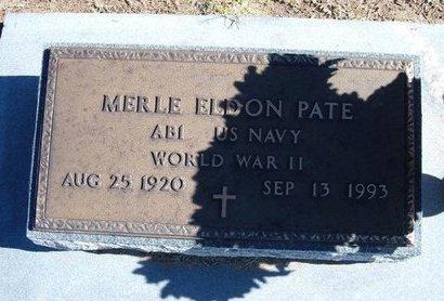 PATE, MERLE ELDON   (VETERAN WWII) - Stevens County, Kansas   MERLE ELDON   (VETERAN WWII) PATE - Kansas Gravestone Photos