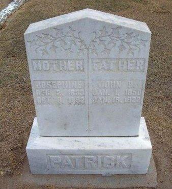 PATRICK, JOHN B - Stevens County, Kansas | JOHN B PATRICK - Kansas Gravestone Photos