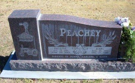 PEACHEY, PAULINE - Stevens County, Kansas | PAULINE PEACHEY - Kansas Gravestone Photos