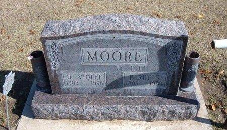 MOORE, HALLIE VIOLET - Stevens County, Kansas | HALLIE VIOLET MOORE - Kansas Gravestone Photos