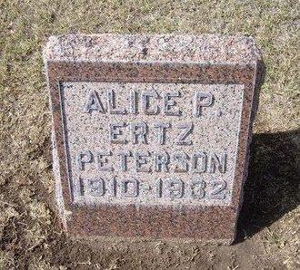 PETERSON, ALICE P - Stevens County, Kansas   ALICE P PETERSON - Kansas Gravestone Photos