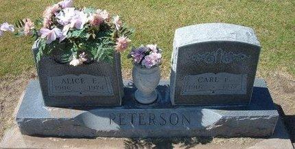 PETERSON, CARL F - Stevens County, Kansas | CARL F PETERSON - Kansas Gravestone Photos