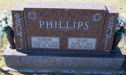 PHILLIPS, JUNE - Stevens County, Kansas   JUNE PHILLIPS - Kansas Gravestone Photos