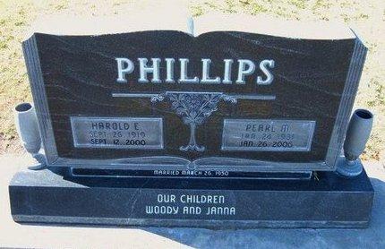 PHILLIPS, HAROLD E - Stevens County, Kansas | HAROLD E PHILLIPS - Kansas Gravestone Photos