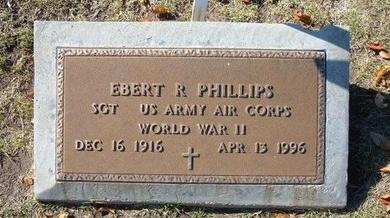 PHILLIPS, EBERT ROYCE (VETERAN WWII) - Stevens County, Kansas | EBERT ROYCE (VETERAN WWII) PHILLIPS - Kansas Gravestone Photos