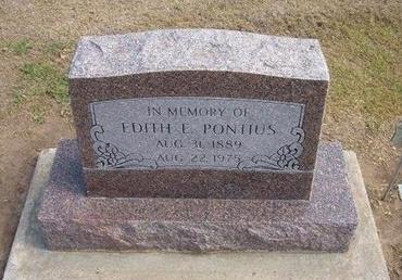 PONTIUS, EDITH E - Stevens County, Kansas | EDITH E PONTIUS - Kansas Gravestone Photos