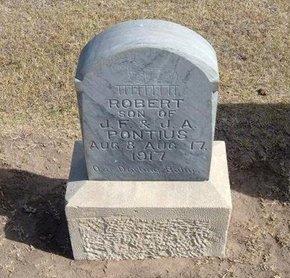 PONTIUS, ROBERT - Stevens County, Kansas   ROBERT PONTIUS - Kansas Gravestone Photos